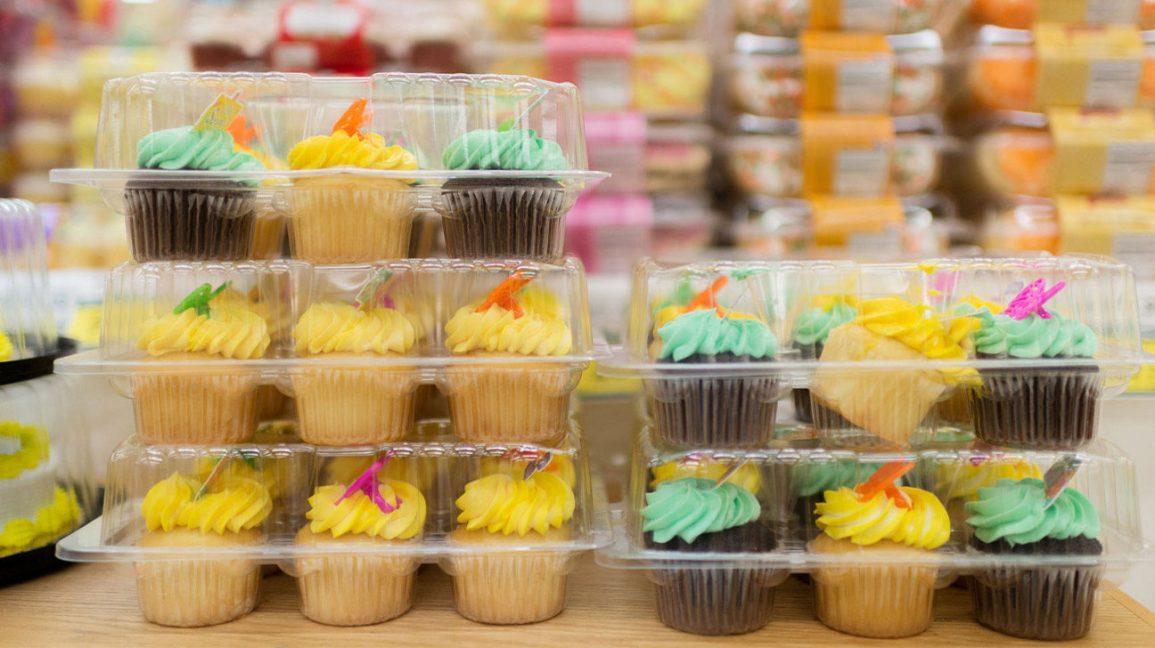 cupcakes emballés à base d'huiles végétales hydrogénées