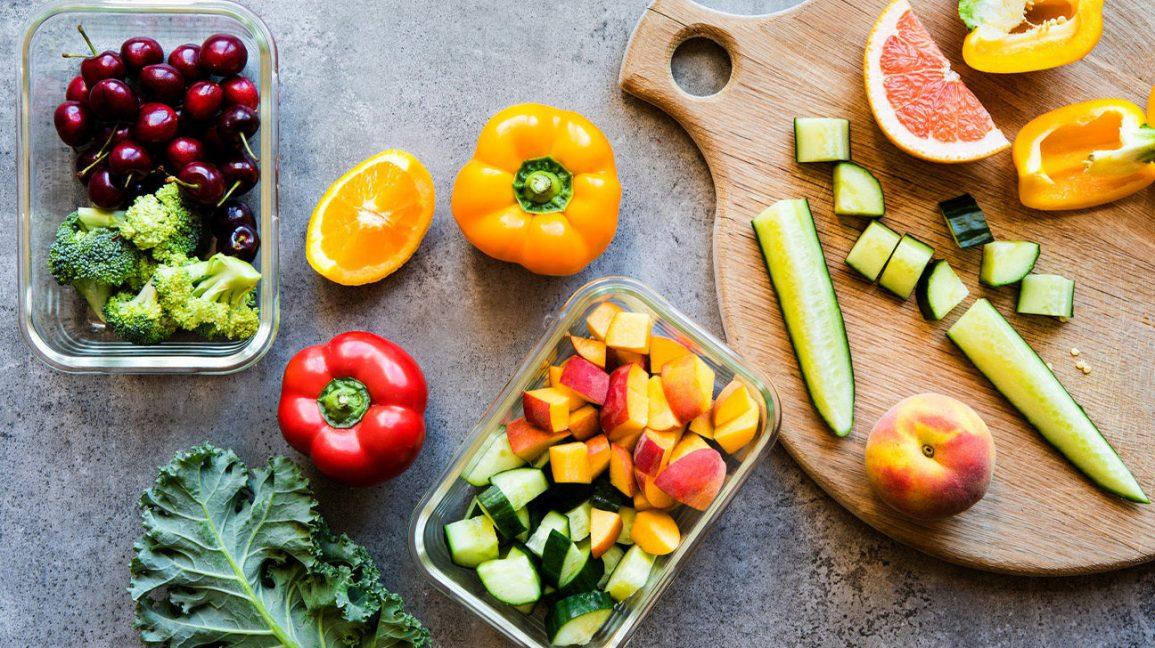 Fruits et légumes coupés