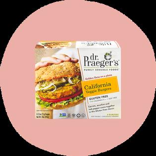 Burgers végétariens californiens Pure Sensible Foods du Dr Praeger