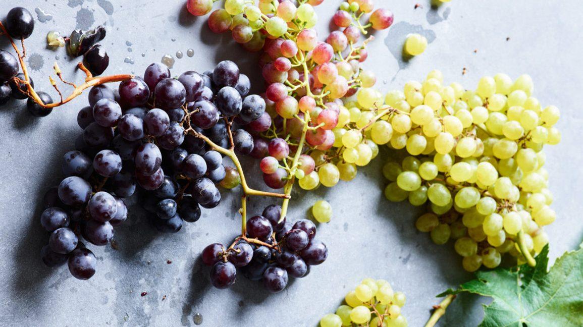 Différents types de raisins