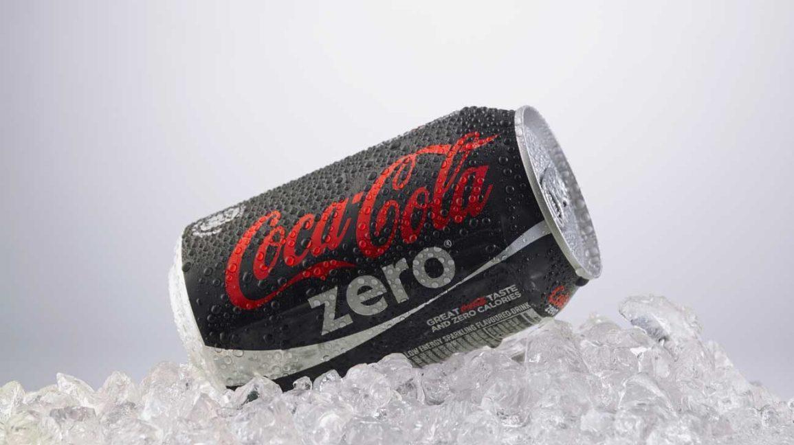 bidon de coca zéro sur glace