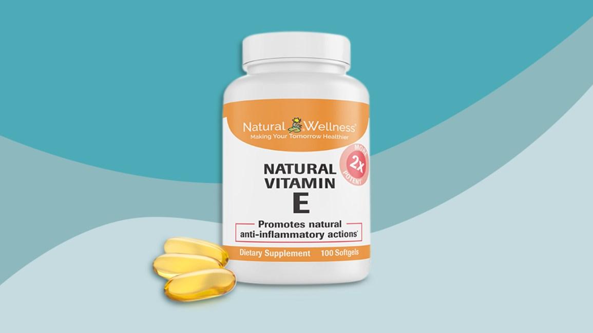 Illustration de supplément de vitamine E