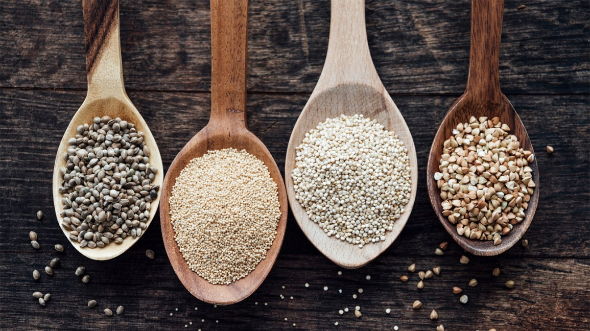 Quinoa, amarante, sarrasin, chanvre