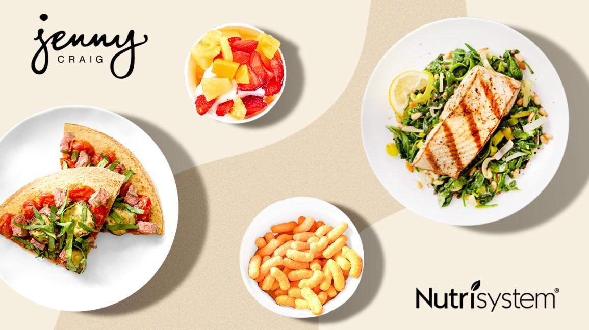 repas pour Nutrisystem et Jenny Craig comparés