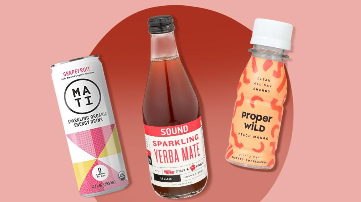 une sélection de boissons énergisantes naturelles de marque