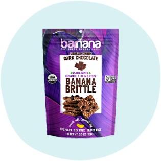 Biscuit croquant à la banane et au chocolat noir Barnana Bio Double Chunk