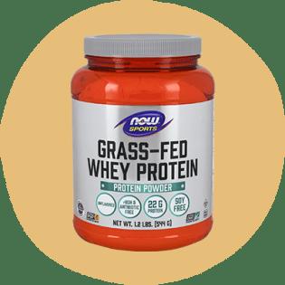NOW Sports Protéine de lactosérum nourri à l'herbe sans saveur