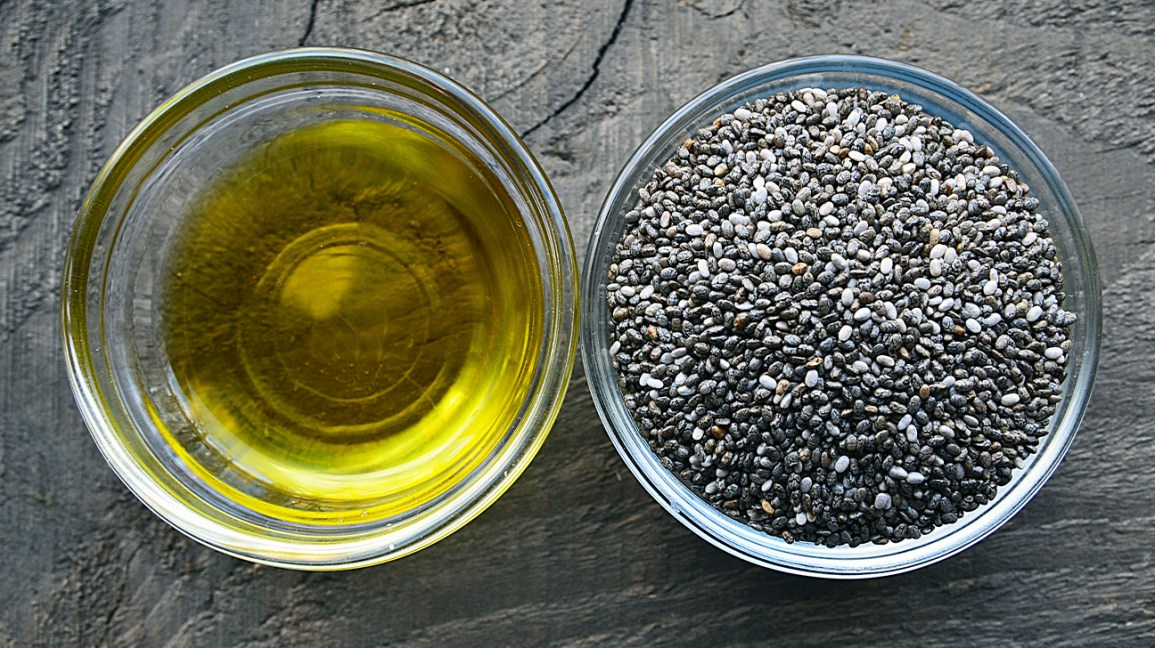 Graines de chia et huile de graines de chia