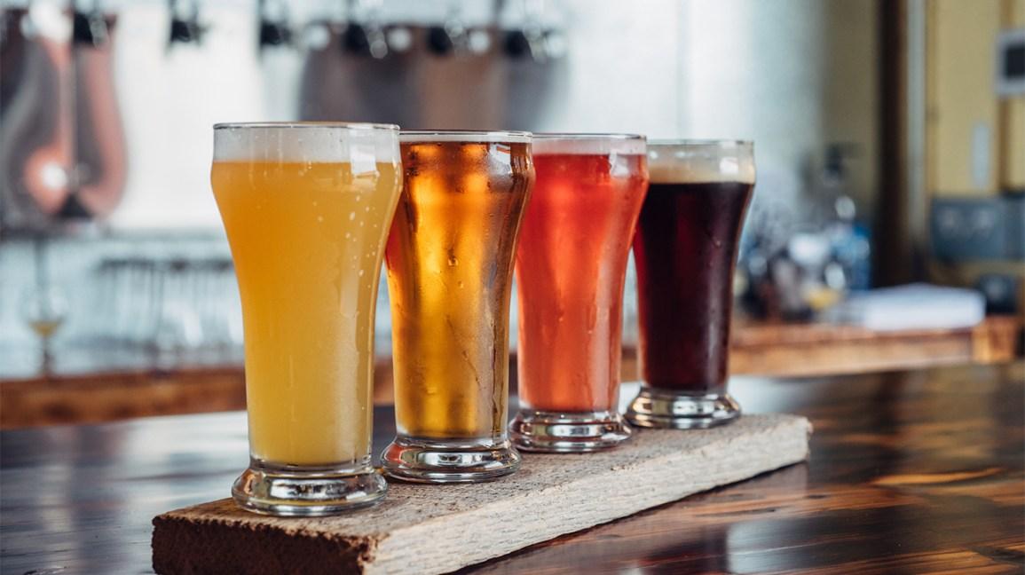 une sélection de bières à la pression