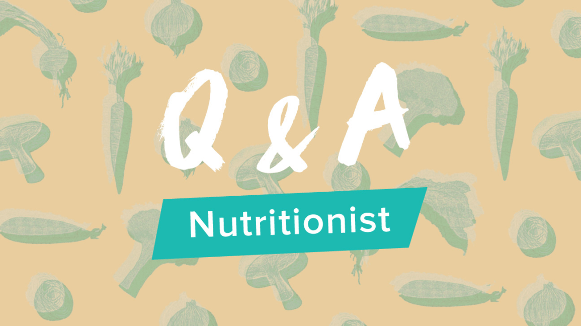 Q & amp; Une bannière nutritionniste