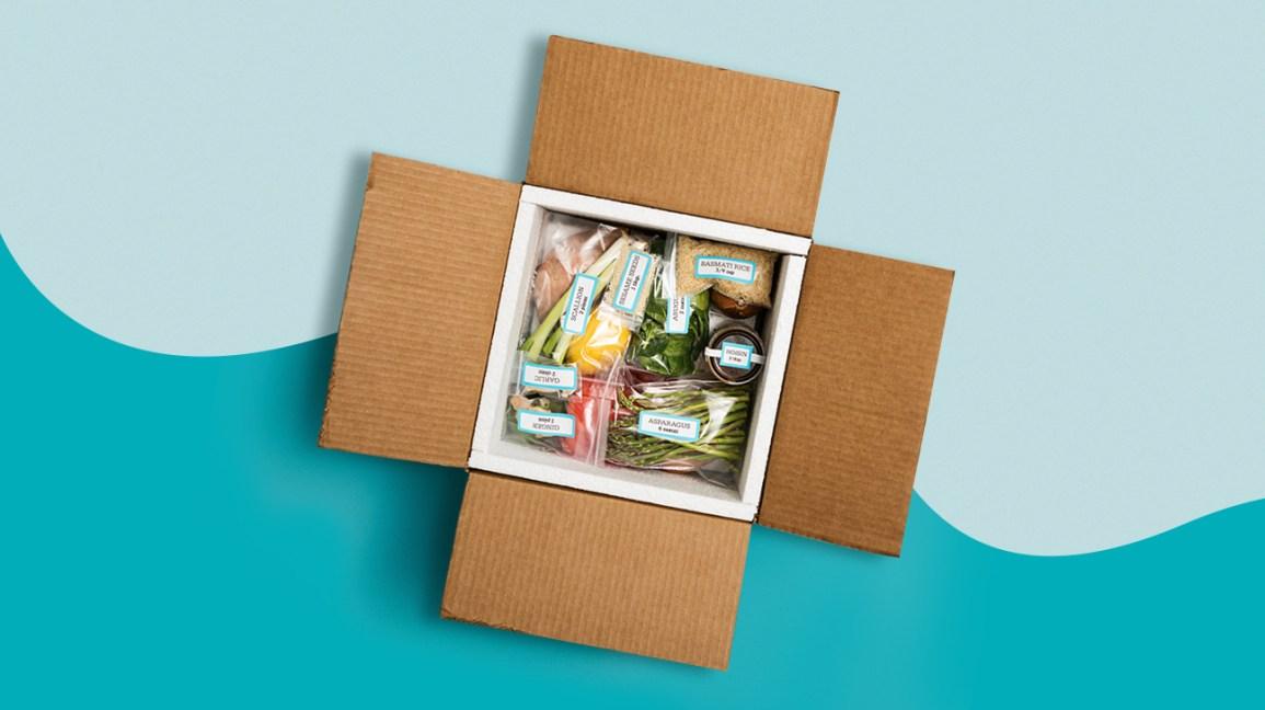 repas emballé dans une boîte