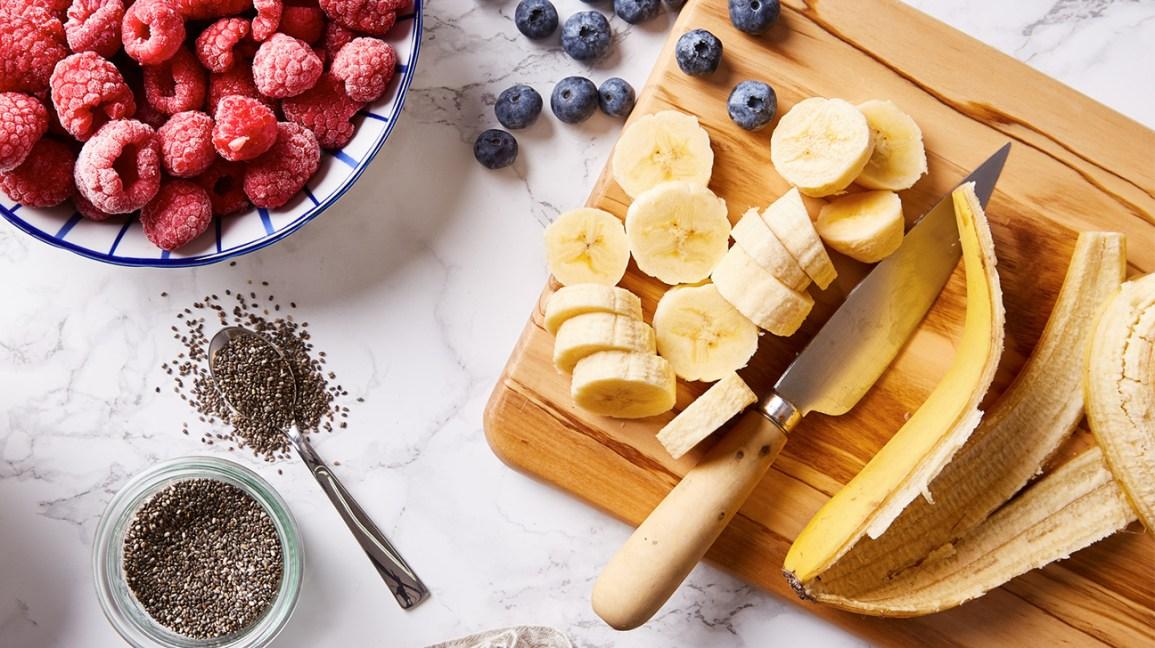 Ingrédients du shake à la banane