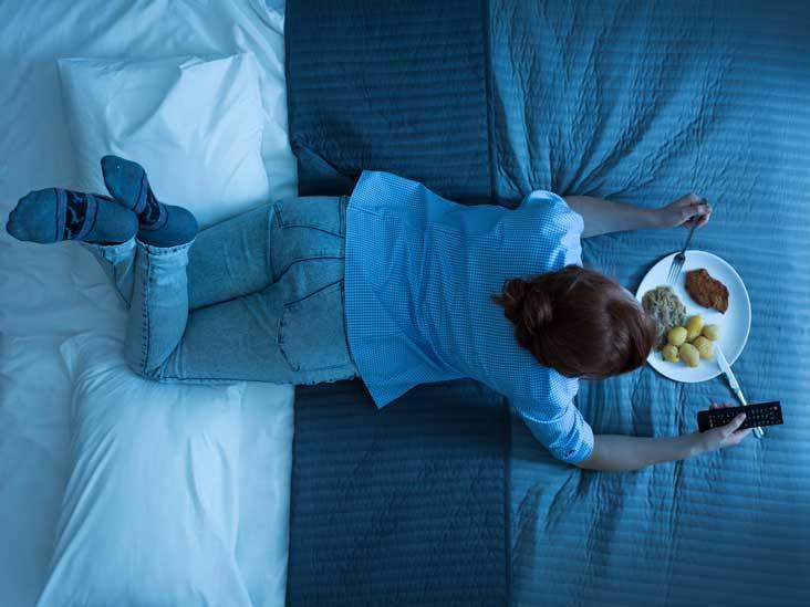 Manger avant de se coucher
