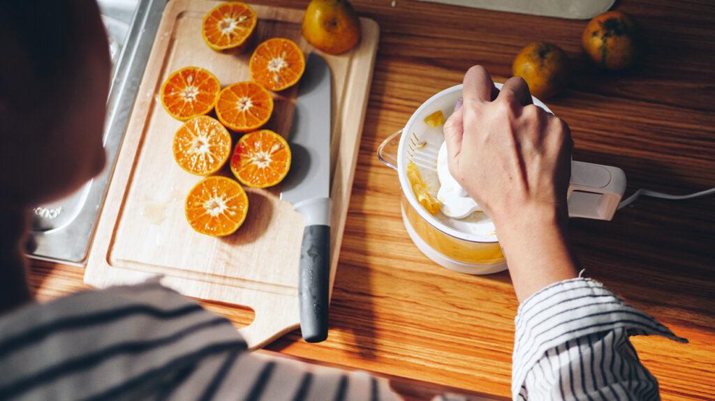 Jus d'orange aliments riches en chrome